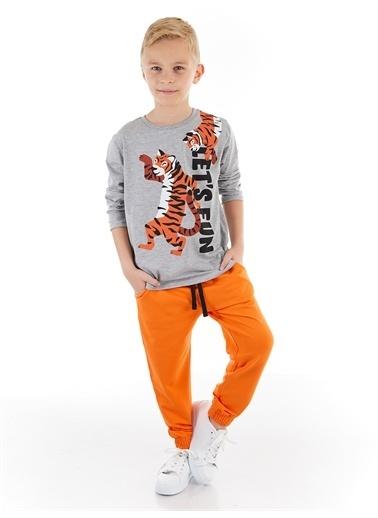 Denokids Lets Fun Erkek Çocuk Pantolon Takım Renkli